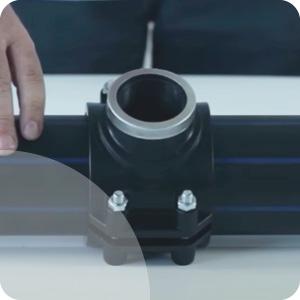 Collier de prise en charge sur tubes PEHD