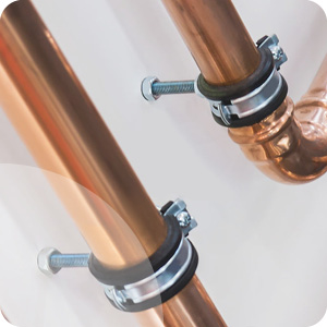 Fixation tube cuivre
