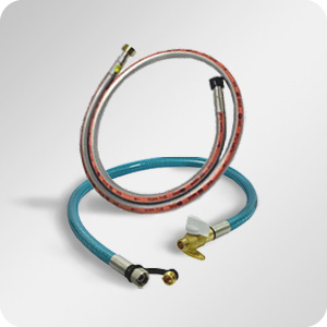 Lyre, flexible et tuyau gaz