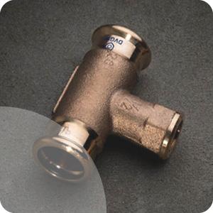 Raccord laiton et bronze à sertir pour tube cuivre