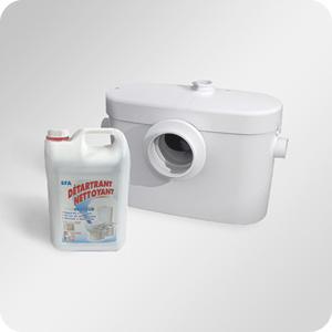 Sanibroyeur et broyeur WC