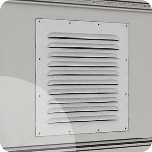 Grille de ventilation métallique