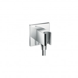Fixfit Porter Square Coude de raccordement flexible+support Douchette chromé Hansgrohe