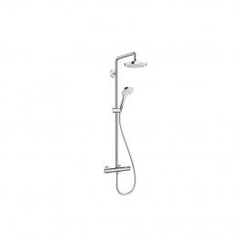 Showerpipe Croma Select E 180 2 jet blanc Chromé Hansgrohe