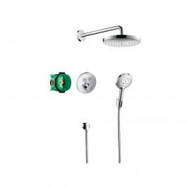 Pack encastré Design ShowerSet Raindance Select S / ShowerSelect S Chromé Hansgrohe