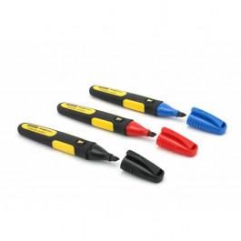 3 marqueurs permanents noir/rouge/bleu Stanley