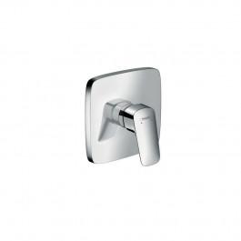 Set de finition LOGIS pour mitigeur douche encastré chromé Hansgrohe