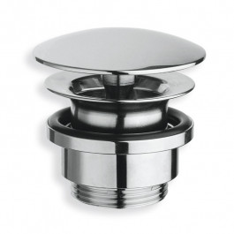 Bonde lavabo laiton chromé écoulement libre bouchon Ø72mm