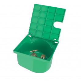 """Bouche Arrosage Carrée Verte NICOLL Arrivée F 3/4"""" (20x27) - Sortie M 3/4 (20x27)"""