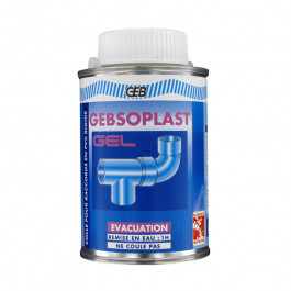 Colle GEBSOPLAST GEL pour raccords PVC évacuation - 250ml