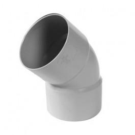 Coude PVC 45° FF pour tube de descente Ø80