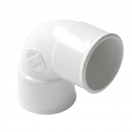 Coude PVC blanc 87°30 FF Nicoll