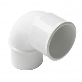 Coude PVC blanc 87°30 MF Nicoll