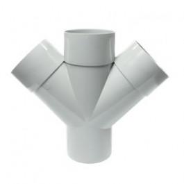 Culotte PVC Double Parallèle 45° Mâle Femelle Ø100 FIRST-PLAST