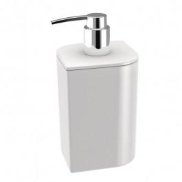 Distributeur savon KOH-I-NOOR VELA à poser 8x8x15cm céramique blanche