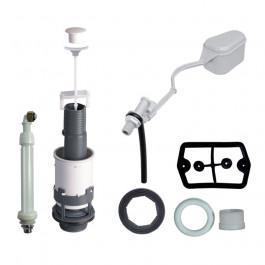 Ensemble Mécanisme wc Spécial Rénovation à tirette + robinet flotteur F12