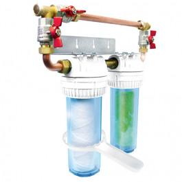 Filtre à eau Duplex Aquaphos MK + Merkur avec by-pass