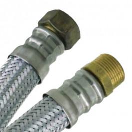 """Flexible chauffage Galva Øintér.25mm- Femelle/Mâle (26/34) 1"""" - 700mm"""