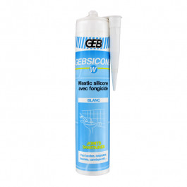 Mastic silicone Blanc GEBSICONE W joints sanitaires