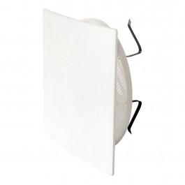 Grille 166x166mm à clipser avec plaque carrée + moustiquaire