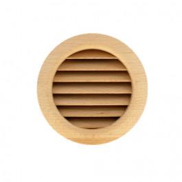 Grille ventilation ronde bois à encastrer Ø extérieur 110mm - Ø de perçage 100mm