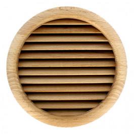 Grille ventilation ronde bois à encastrer Ø extérieur 172mm - Ø de perçage 160mm