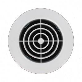 Grille ventilation ronde PVC blanc à encastrer