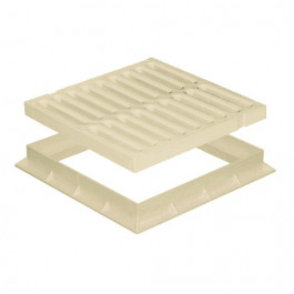 Grille de sol PVC légère avec cadre anti-choc- SABLE - FIRST-PLAST
