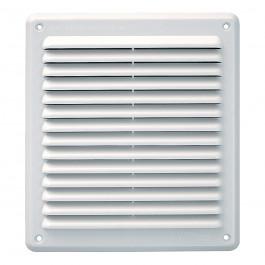 Grille ventilation rectangulaire PVC anti-pluie 204x230mm