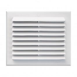Grille de ventilation rectangulaire en pvc blanc clipser - Grille de ventilation vide sanitaire ...