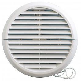 "Grille ventilation ronde PVC à encastrer ""IN OUT"" First-Plast"