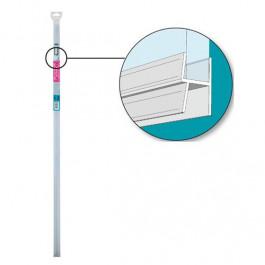 Joint double lèvres pour bas de porte de douche épaisseur 5 à 8mm - 1m