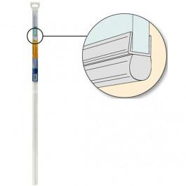 Joint tubulaire pour bas de porte de douche- Epaisseur 5 à 8mm - 1,00ml