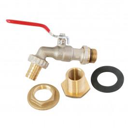 """Kit raccordement récupérateur eau de pluie 1/2"""" (15/21) -3/4"""" (20/27)"""