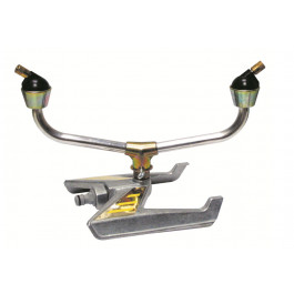 Arrosage rotatif multi-direction 2 bras traineau metal-400 m²