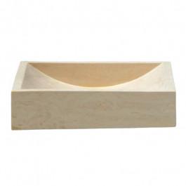 Lavabo à poser en pierre sable L45 x P40 x H10