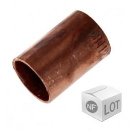 Lot de 10 manchons cuivre NF à souder