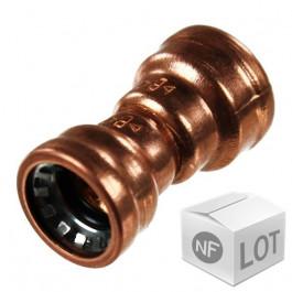 Lot de raccord cuivre Push-Fit à clipser - Réduction FF