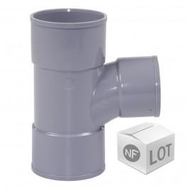 Lot de raccord PVC - Té pied de biche 87°30 Femelle Femelle FIRST-PLAST