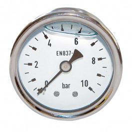 """THERMADOR Manomètre Inox glycérine Axial Mâle 1/4""""-Ø50mm-0 à 10bar"""