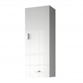 meuble haut optimo blanc brillant 1 porte et 1 tiroir. Black Bedroom Furniture Sets. Home Design Ideas