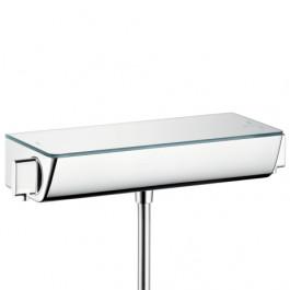 Robinet Mitigeur Thermostatique douche Ecostat Select Hansgrohe - Blanc/Chromé