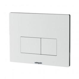 Plaque commande double touche DESIGN blanche - WIRQUIN