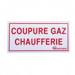plaque signal tique coupure gaz chaufferie 200x100 mm. Black Bedroom Furniture Sets. Home Design Ideas
