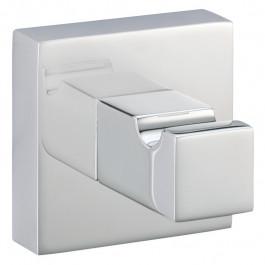 Porte-peignoir chromé QUATTRO - 50 x 50 mm