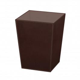 Poubelle cuir marron foncé Ecopelle