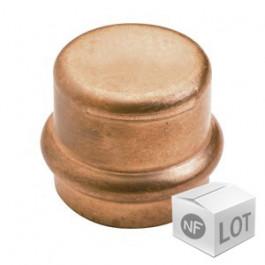 Lot de raccord cuivre à sertir - 10 Bouchons Femelle Ø18