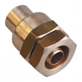 Raccord PE serrage mécanique Ø32 à braser sur tube cuivre Ø28
