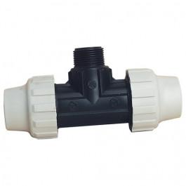 Raccord plastique Té 90° mâle pour Tube PE ou PEHD
