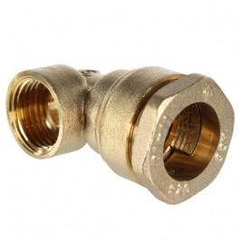 Raccords laiton coude femelle 90° tube PE